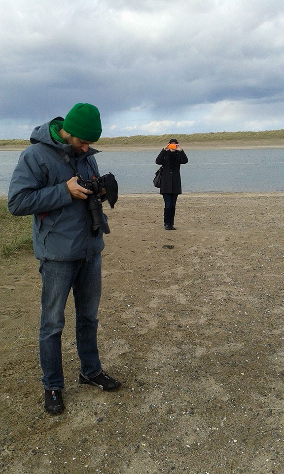 Camerman on the beach
