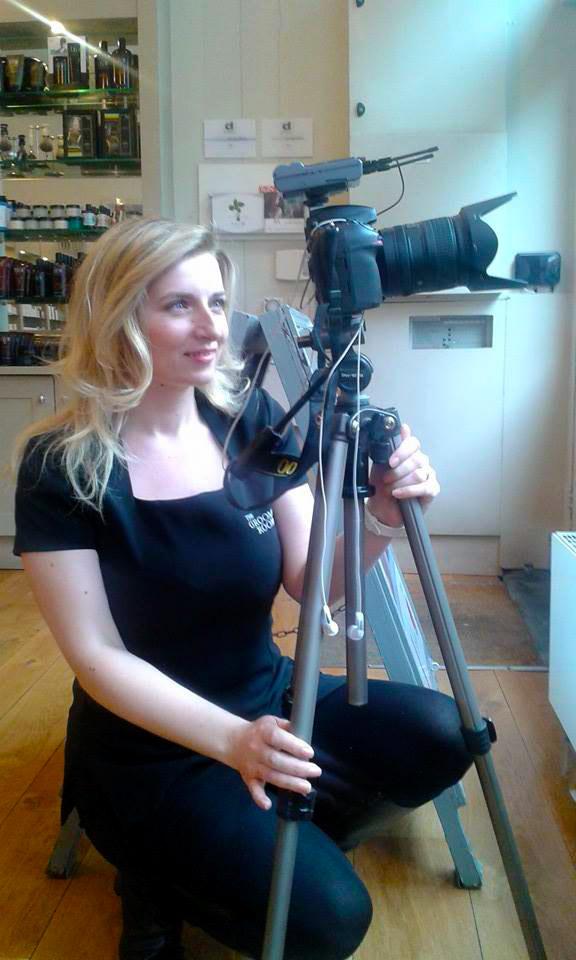 Ana-Marija behind camera