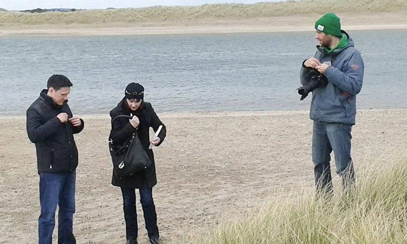 Interview on the Malahide beach in suburb of Dublin