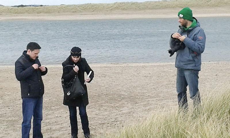 Interview on the Malahide beach in suburb of Dublin