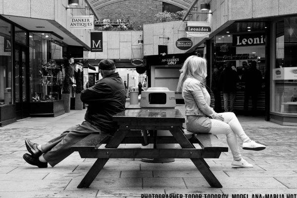 Walking Dublin's streets,phographer Todor Todorov, model Ana-Marija-Hota