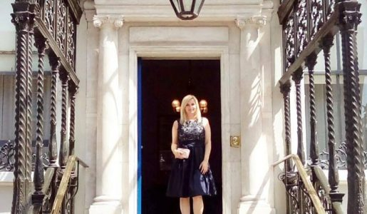 Blogger Ana-Marija Hota at Mansion House Dublin