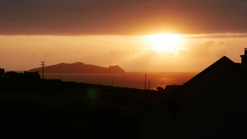 Sunset Dunquin Dingle penninsula