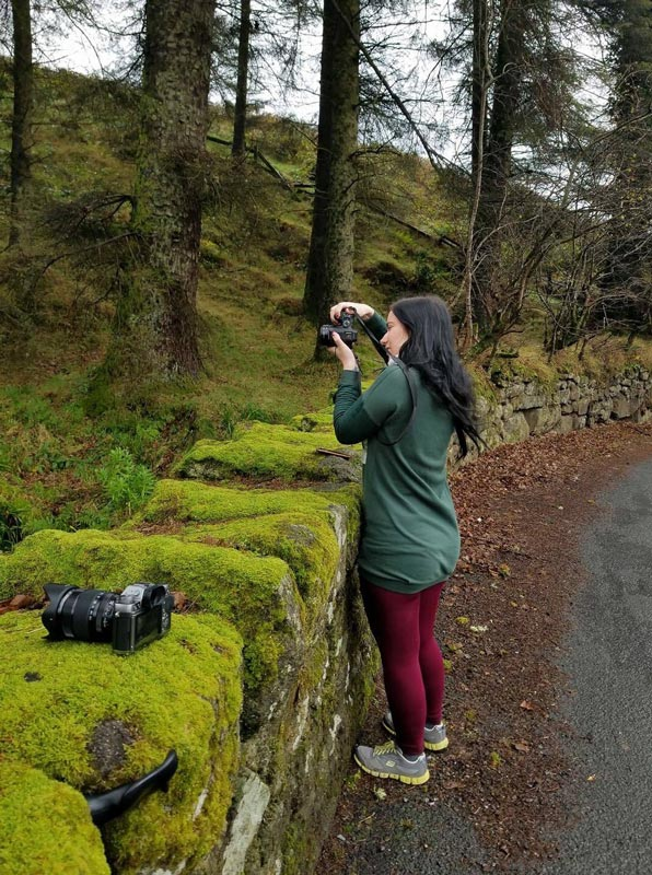 Leandra Castellino shooting forest in Ireland