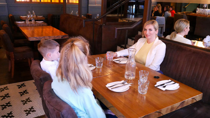 Family dinning at Cleaver East restaurant Dublin