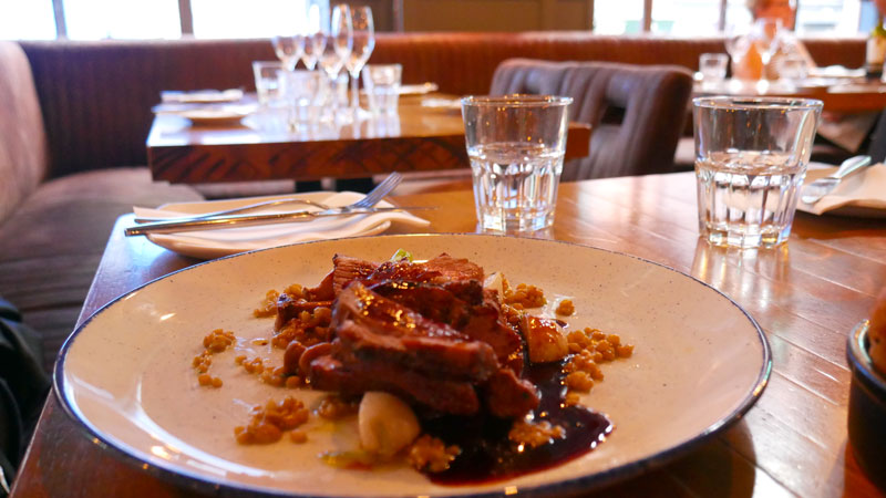 Roast rump Wicklow lamb at Cleaver East restaurant life